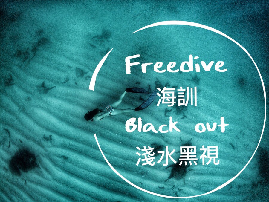 心情💢自由潛水free dive||第一次海訓破自己紀錄16.8米 只是上來時候BO了(BLACK OUT) (淺水黑視昏迷)