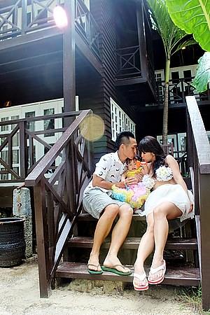 馬來西亞 X 沙巴 玩拍婚紗 ||在馬奴干島拍出三個人的婚紗記錄