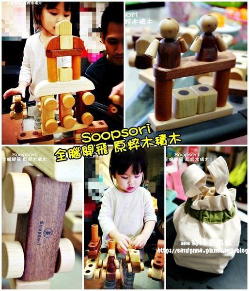 開箱||玩出聰明孩子 韓國Soopsori 全腦開發.原粹木積木-磁性積木系列(26P磁性積木組)